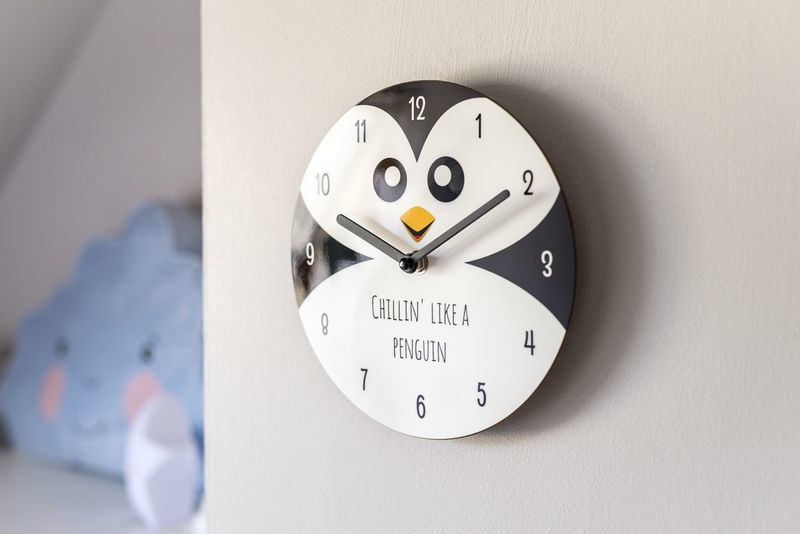 Horloge sur verre acrylique
