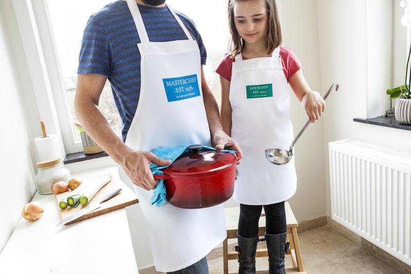 Idée cadeau original pour Noel - tablier enfant personnalisé
