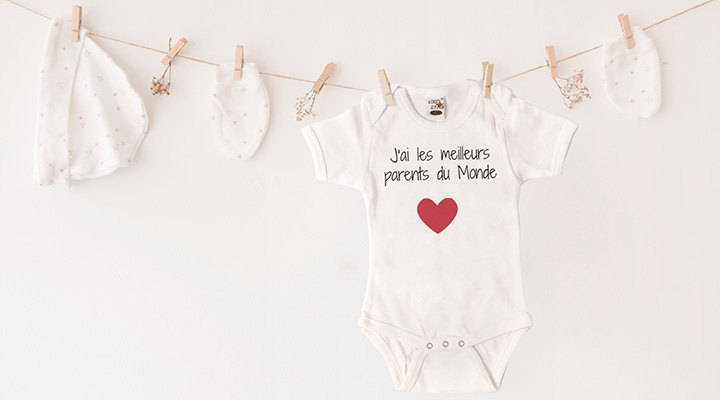 Idée cadeau original pour Noel -  Body personnalisé bébé
