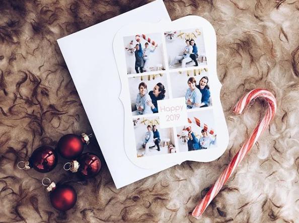 Voeux de Noël 2019 - autoportrait à deux