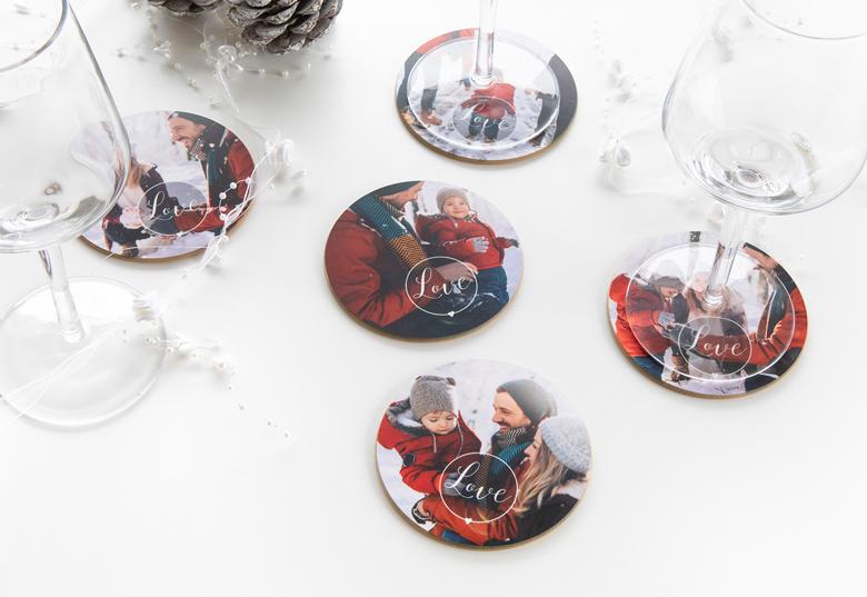 Idée cadeau original pour Noel - dessous de verre personnalisés