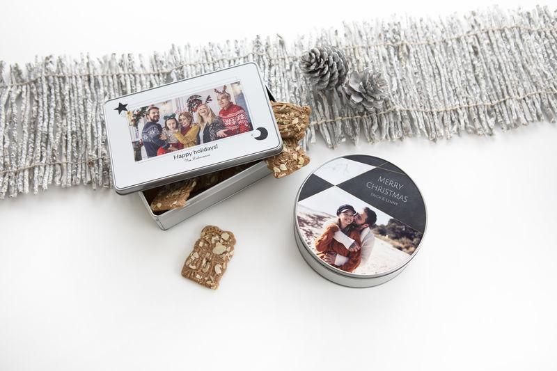 Idée cadeau original pour Noel - boîte en métal personnalisée