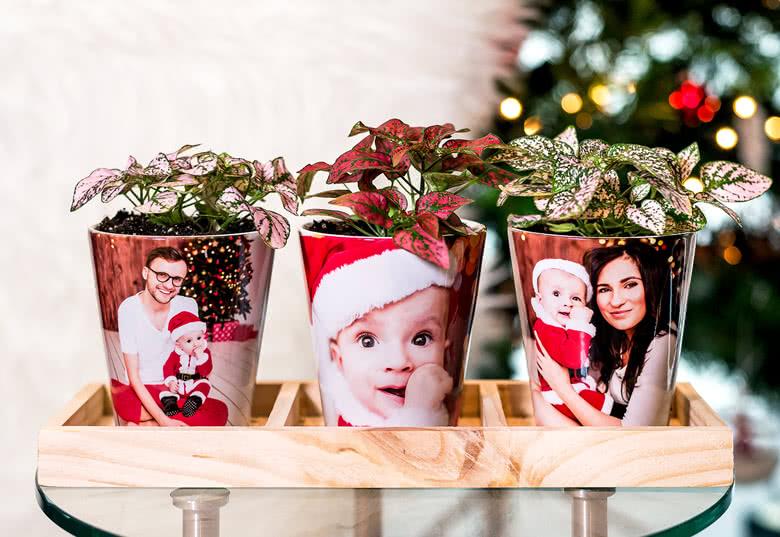 Idée cadeau original pour Noel -pots de fleur en céramique personnalisés
