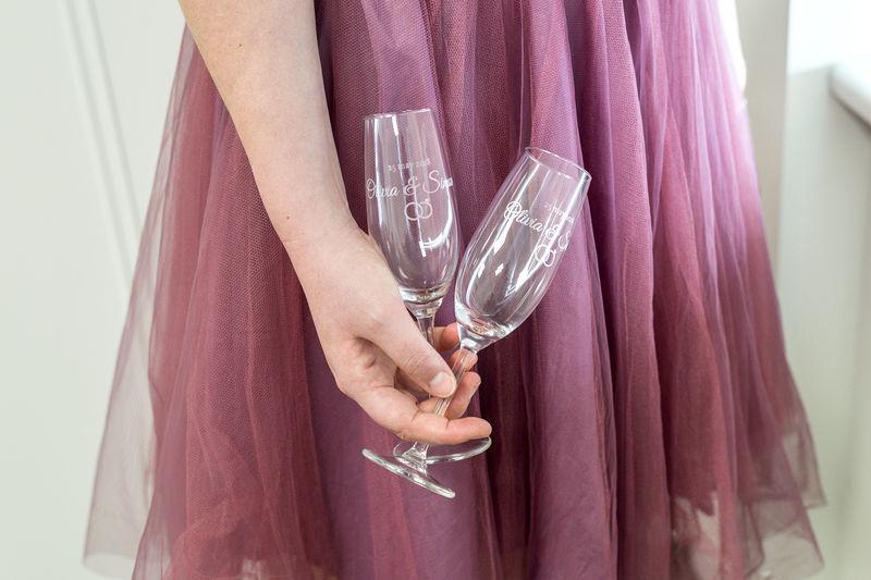 Idée cadeau original pour Noel - Verres à champagne gravés personnalisés