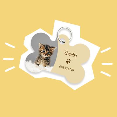 Idée cadeau original pour Noel - médaille chat