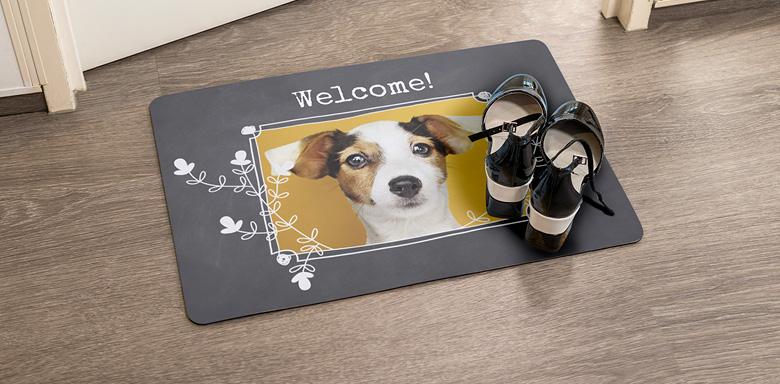 Idée cadeau original pour Noel - paillasson chien