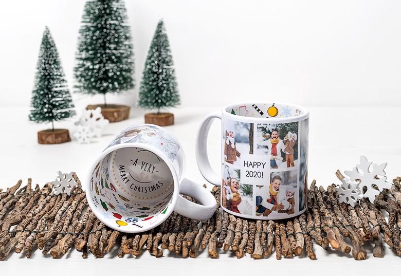 Idée cadeau original pour Noel - tasse de Noël avec vos photos
