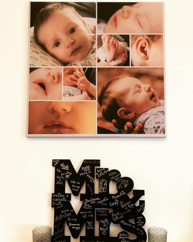 Idée créative confinement -  photos bébé sur toile