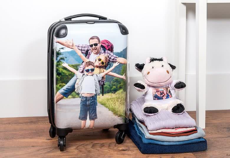 souvenir de voyage : votre photo préférée sur une valise cabine smartphoto