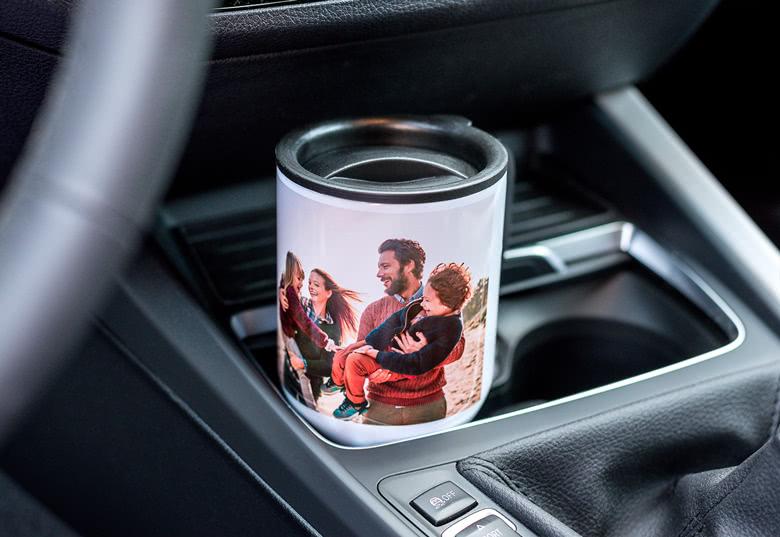Mug de voyage isotherme et personnalisable smartphoto, pour voyager sans plastique