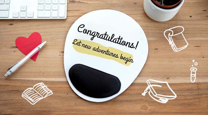 Tapis de souris personnalisé pour jeune diplômé