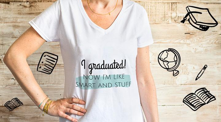 t-shirt personnalisé pour les jeunes diplômés