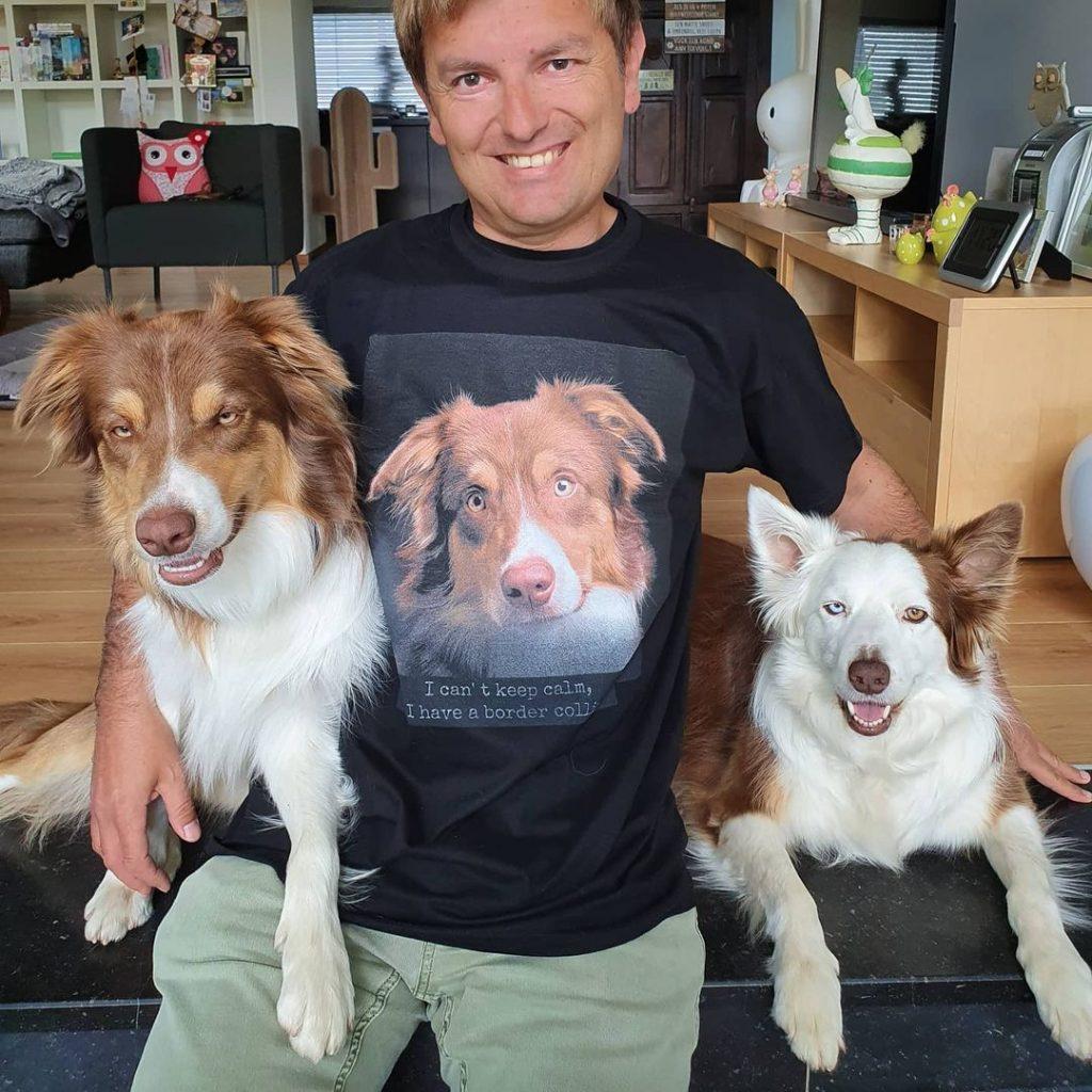 idee photo animal de compagnie : T-shirt personnalisé - Crédit photo @bordercollieshadow