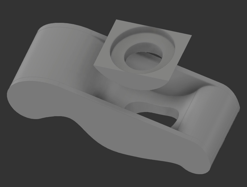 An exploded view of the clamp