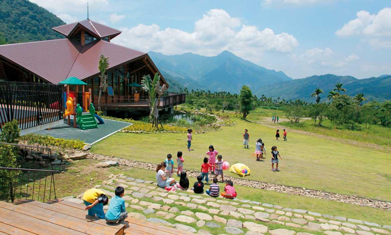 一片美麗的風景,一座美麗的綠建築小學