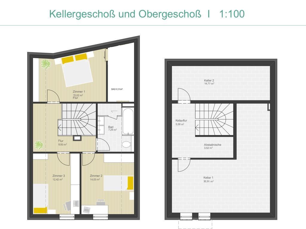 Haus Kauf Wien Wien 21.,Floridsdorf Wien 2417/6475  20 Plan OG u Keller