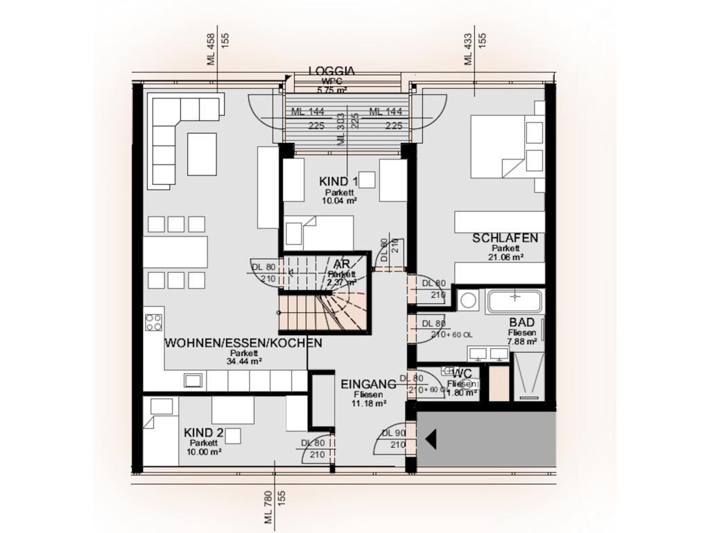 Wohnung Kauf Niederösterreich Krems an der Donau Krems an der Donau 2417/7596  10 Plan - Wohnung