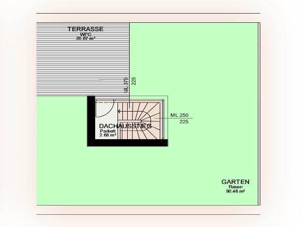 Wohnung Kauf Niederösterreich Krems an der Donau Krems an der Donau 2417/7596  11 Plan - Dachterrasse, Garten