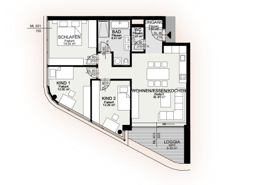 Wohnung Kauf Niederösterreich Krems an der Donau Krems an der Donau 2417/7597  7 Plan