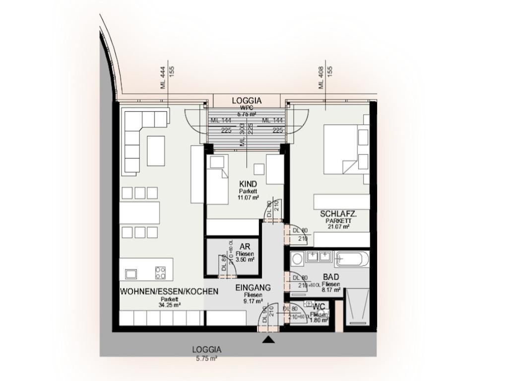 Wohnung Kauf Niederösterreich Krems an der Donau Krems an der Donau 2417/7598  8 Plan