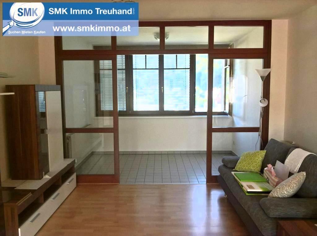 Wohnung Miete Niederösterreich Krems an der Donau Krems an der Donau 2417/7645  1 - Wohnzimmer mit Loggia