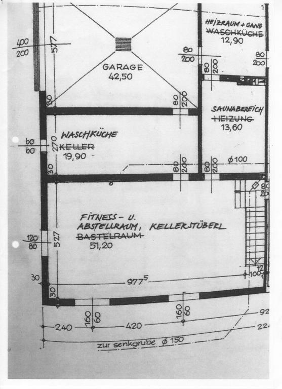 Haus Kauf Niederösterreich Tulln Weidlingbach 2417/7662  11 Plan Keller