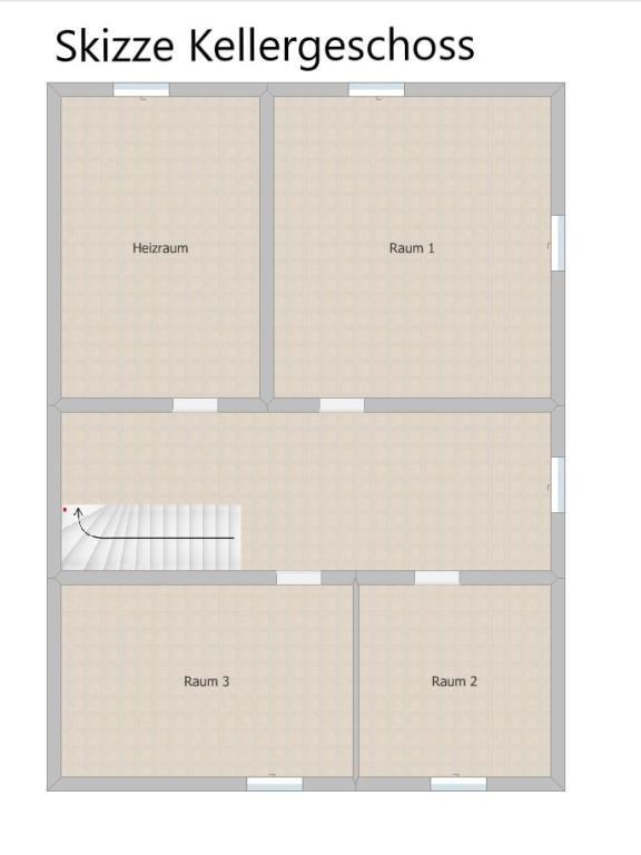Haus Kauf Niederösterreich Baden Unterwaltersdorf 2417/7742  18 Skizze Keller