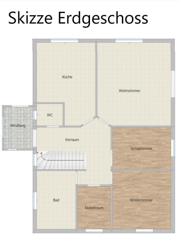 Haus Kauf Niederösterreich Baden Unterwaltersdorf 2417/7742  19 Skizze Erdgeschoss mit Windfang