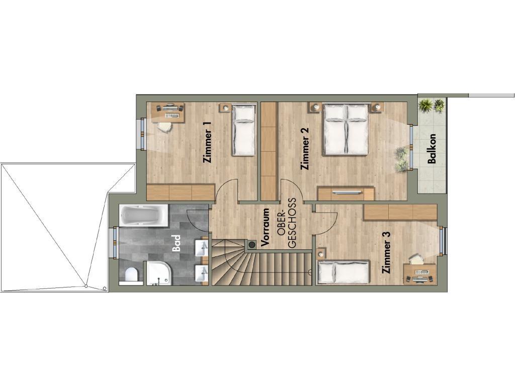 Haus Kauf Niederösterreich Tulln Großweikersdorf 2417/7825  8 Schmidapark RH5 OG