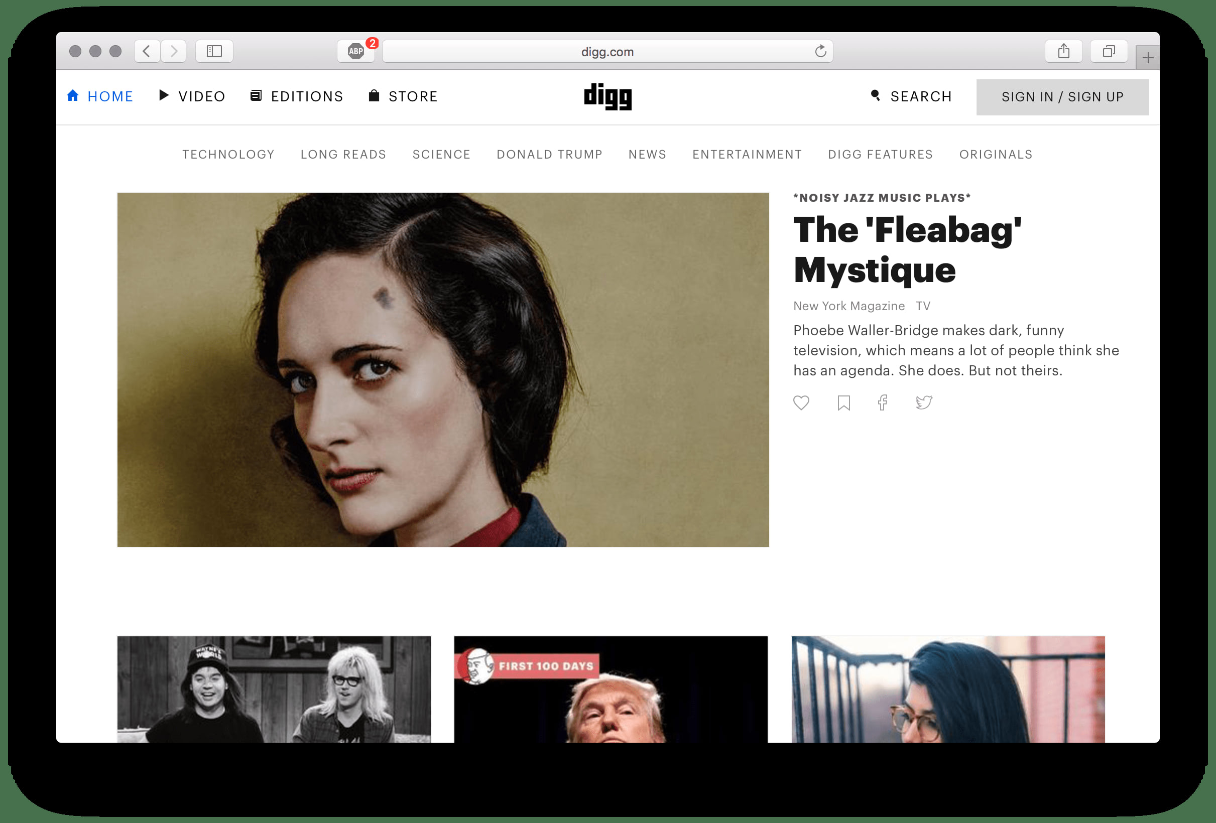 Сайт digg.com
