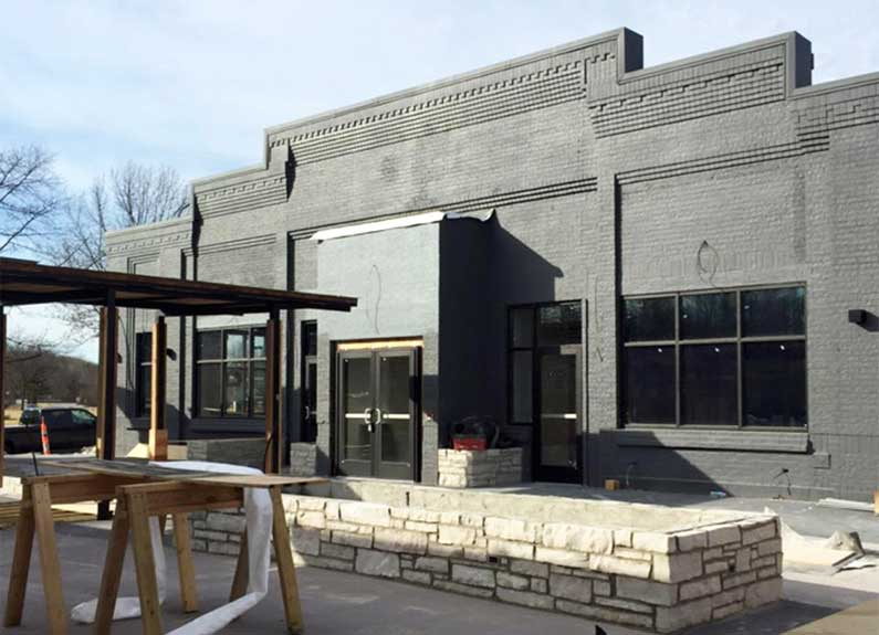 exterior of the future home of joey b's in manchester