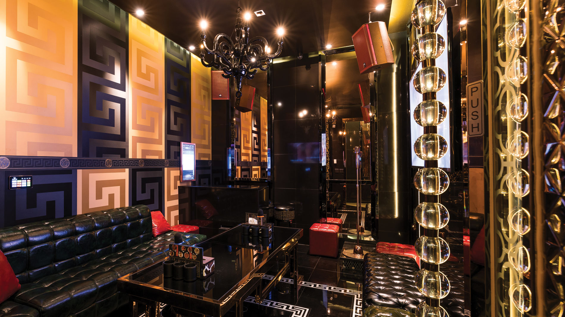 a private room at W Karaoke Lounge