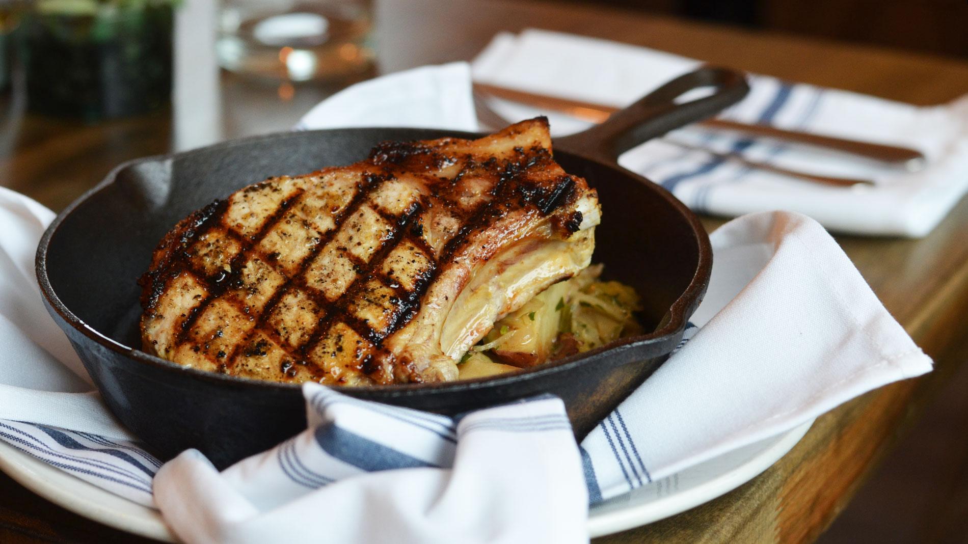 pork chops at 58hundred, dishes at thai table