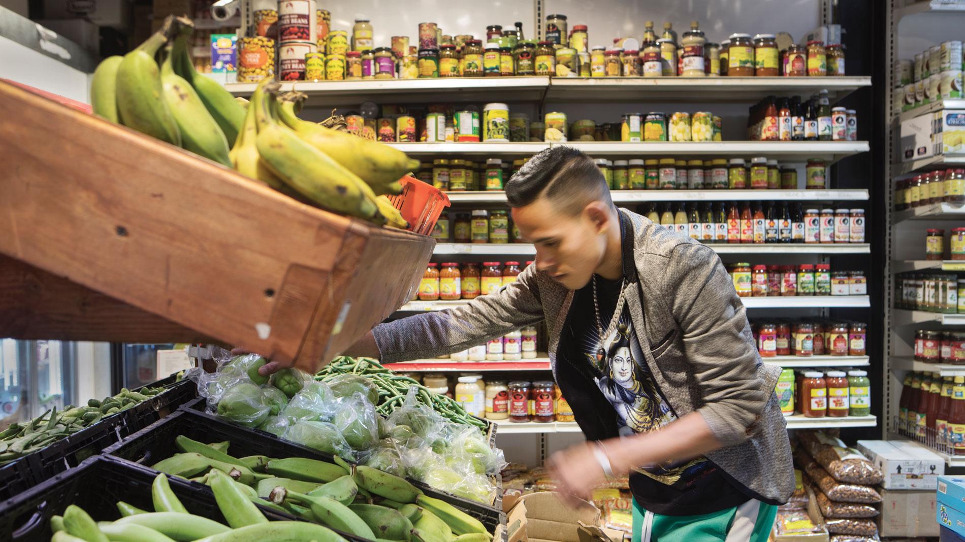 international cuisine, vegetables, international market