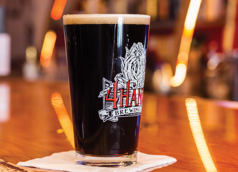 artbar st. louis keeps a rotating supply of local beer on tap, including brews by 4 hands