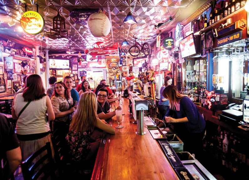 interior of stella blues in south city