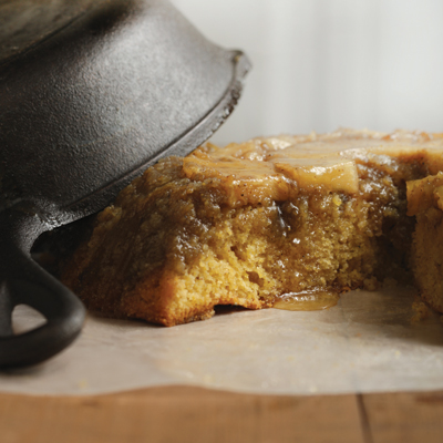 Cast-Iron Skillet Pineapple Upside-Down Cake With Brown Sugar-Cornmeal Crust