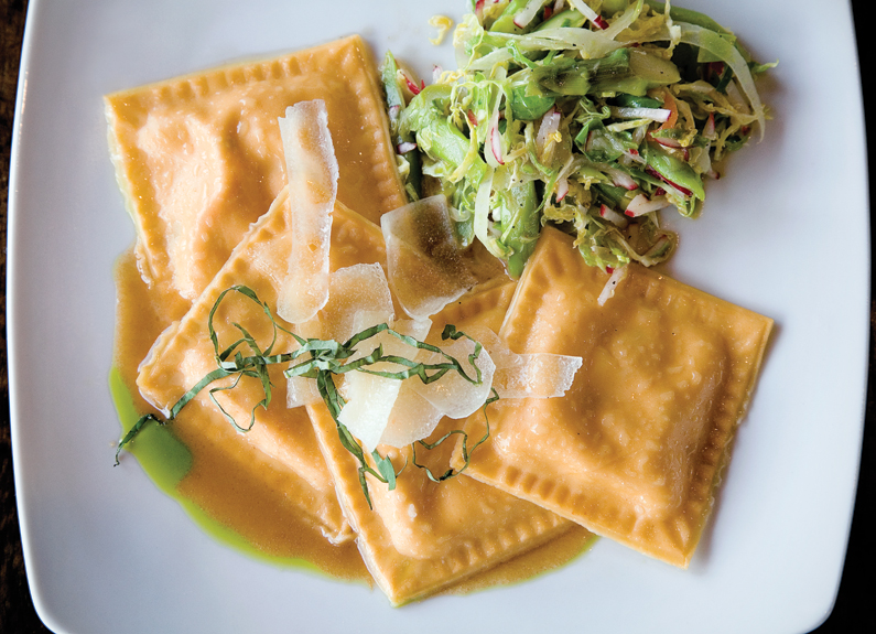 Lobster Ravioli at Balaban's Wine Cellar and Tapas Bar