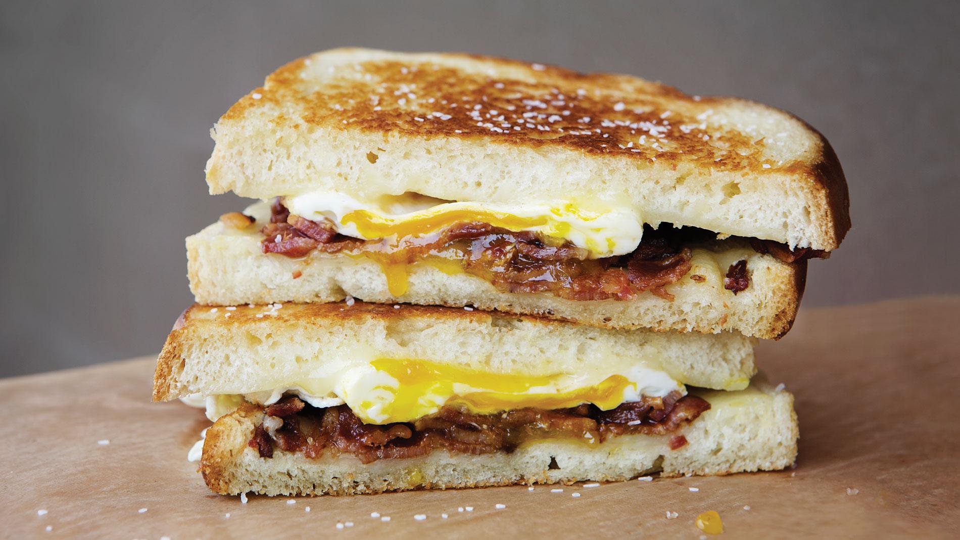 ktichen kulture's classic breakfast sandwich at tower grove farmers market in st. louis