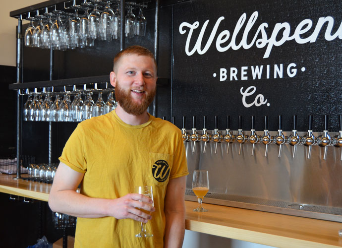 Wellspent Brewing Co. Brewer and Co-Owner Kyle Kohlmorgen