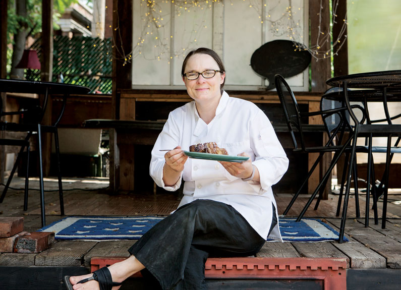 Colleen Clawson, chef at Milque Toast Bar