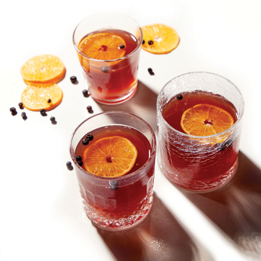 Mulled Sloe Gin Cocktail