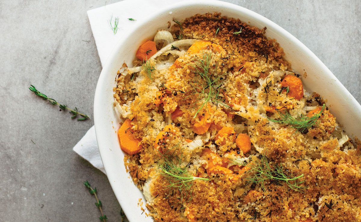 Fennel and Carrot Gratin