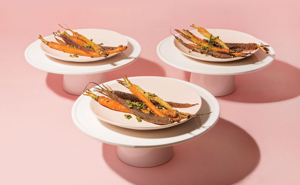 Spiced Carrots with Carrot Top Gremolata
