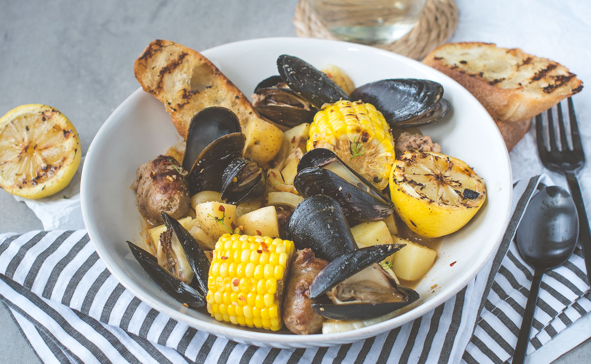 Grilled Mussels Packets