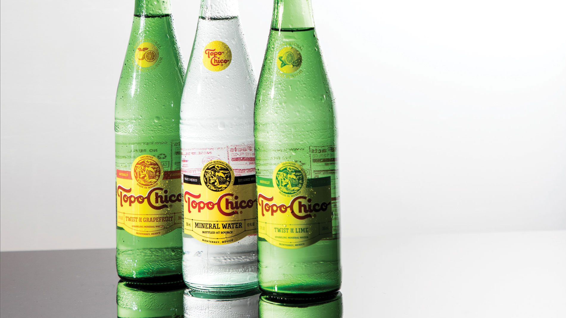 Topo Chico is on the top of our list for sparkling waters.