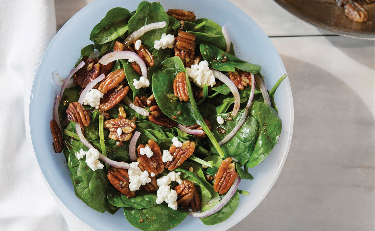 Spinach Salad with Brown Butter Vinaigrette