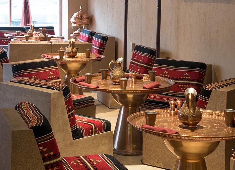 interior of sheesh turkish restaurant on south grand