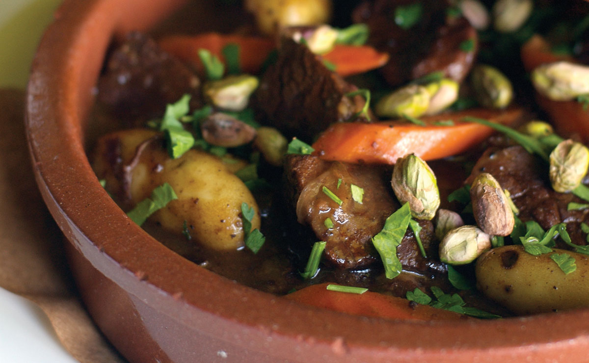 braised beef and honey tajine