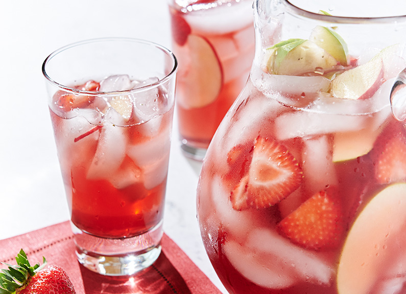 sip a rosé sangria from grapeseed